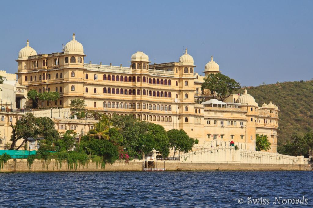 Der Stadtpalast ist eine der Sehenswürdigkeiten von Udaipur
