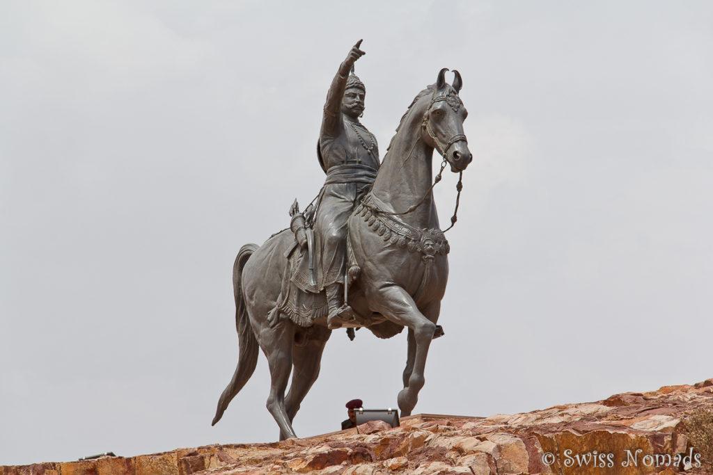 Die Statue von Rao Jodha ist eine Sehenswürdigkeit in Jodhpur