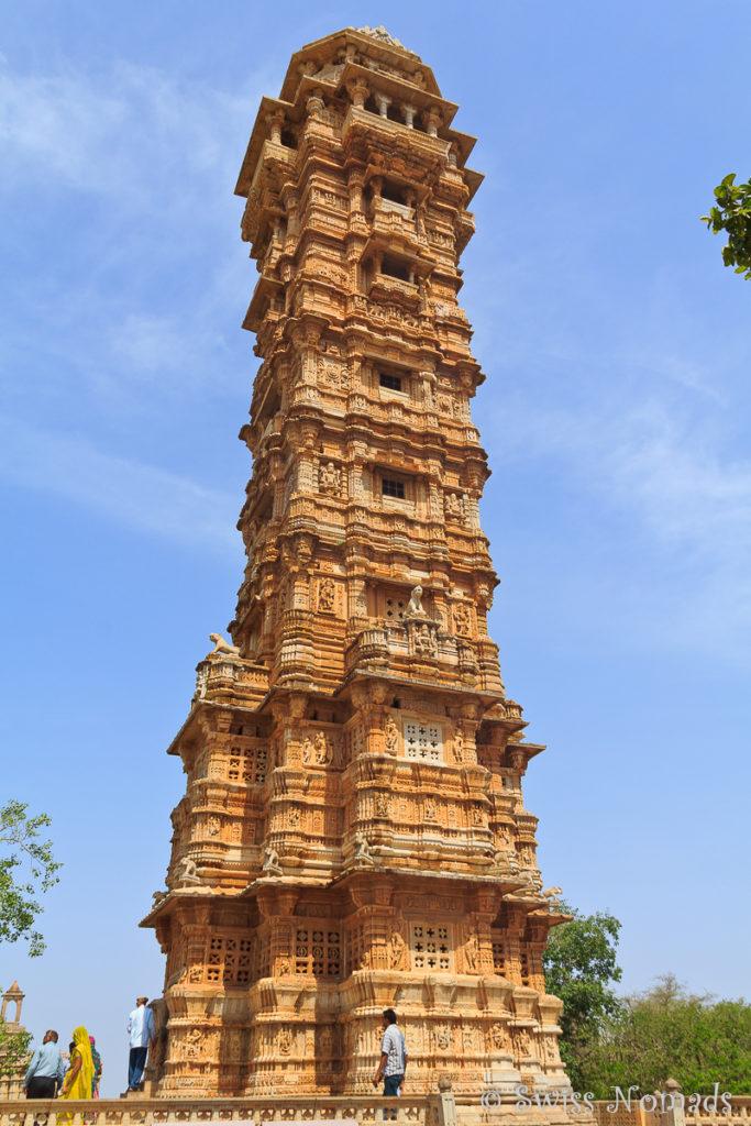 Der eindrückliche Tower of Victory im Chittorgarh Fort