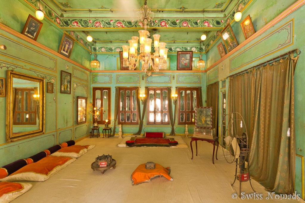 Der Zenana Mahal im Stadtpalast von Udaipur