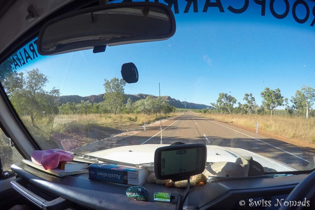 Actionkamera auf Reisen im Auto