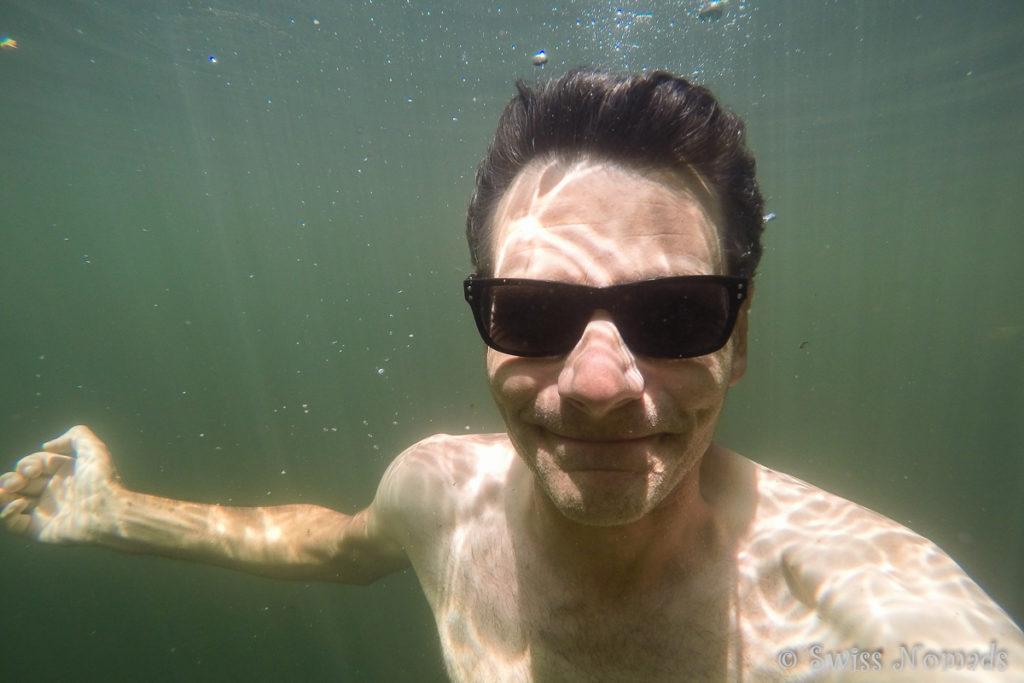 Actionkamera auf reisen Unterwasser