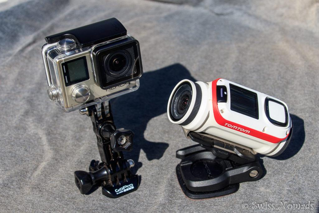 Die GoPro und TomTom Actionkameras auf Reisen