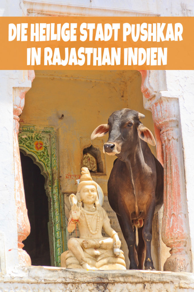 Die heilige Stadt Pushkar in Rajasthan, Indien