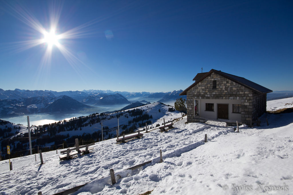Kapelle Rigi im Winter