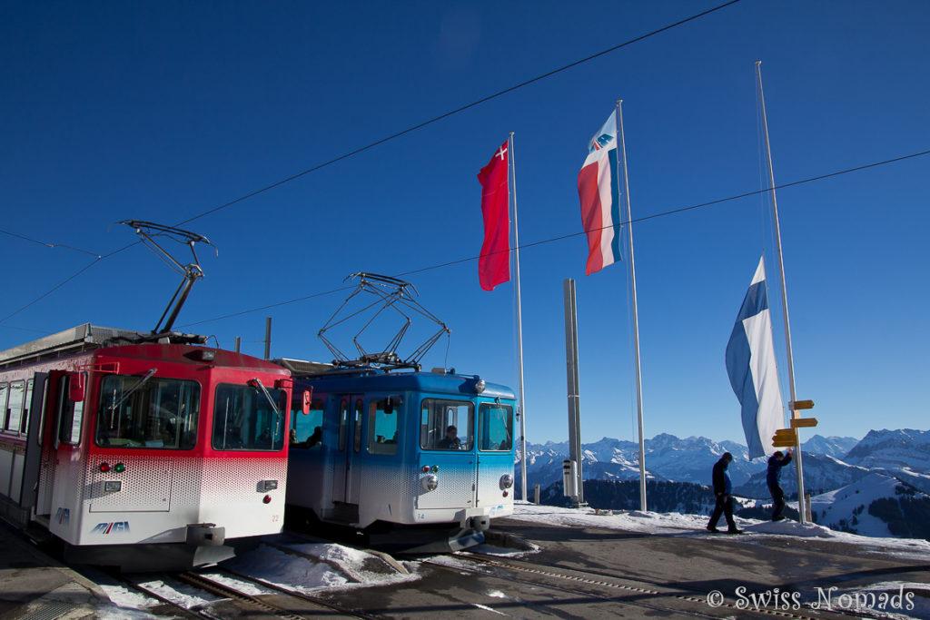 Rigi Bahn im Winter