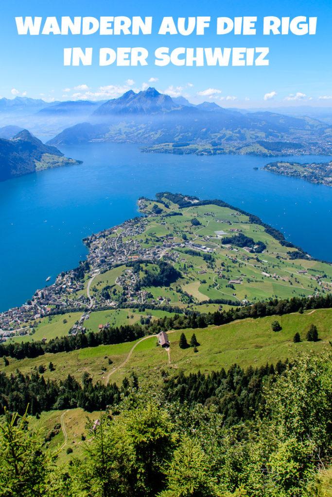 Auf die Rigi Wandern in der Schweiz