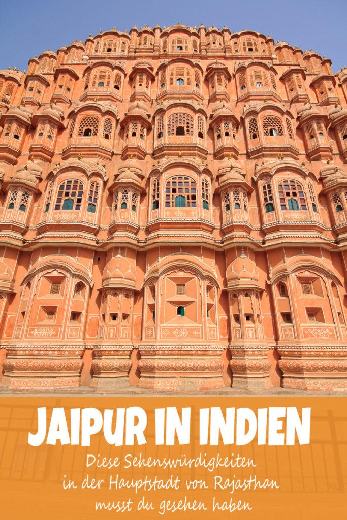 Die Sehenswürdigkeiten in Jaipur - Hava Mahal
