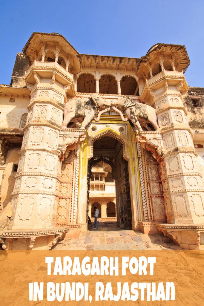 Das Taragarh Fort in Bundi ist eines der unbekannteren Forts in Rajasthan