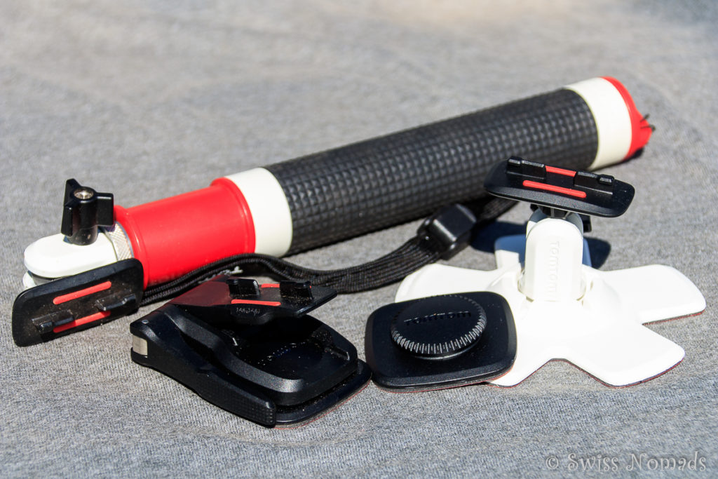 Die TomTom Bandit Actionkamera bietet umfangreiches Zubehör