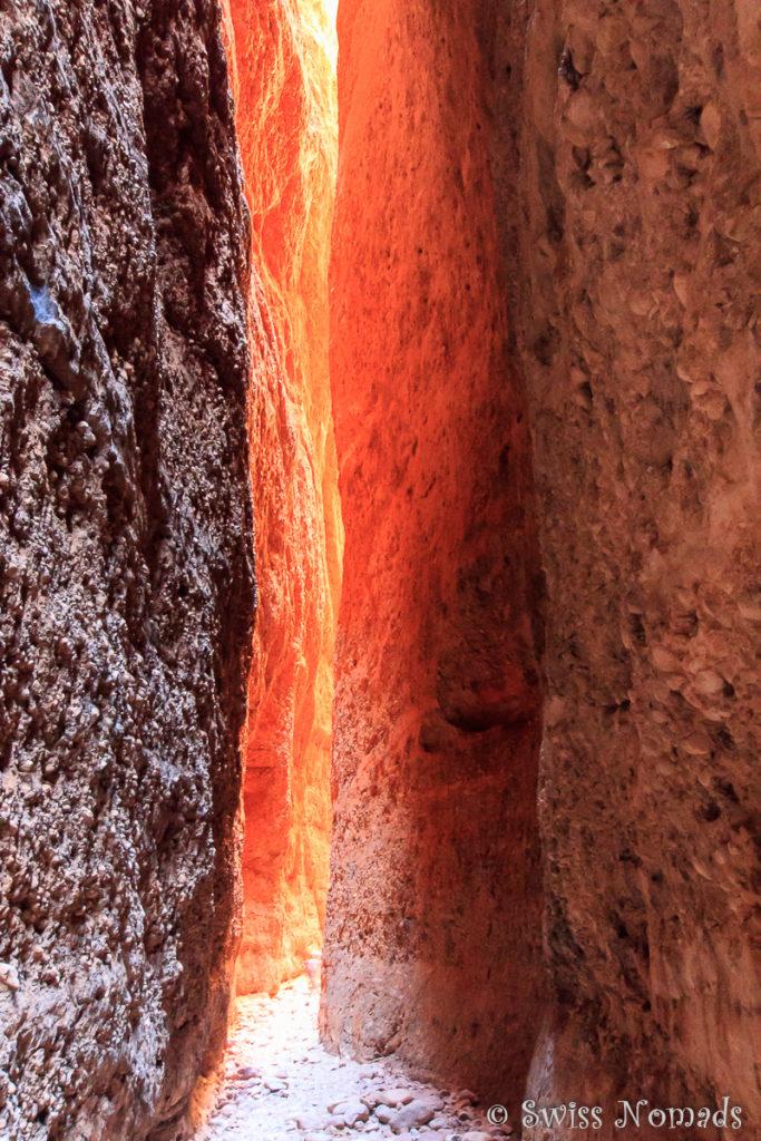 Wunderschöne Lichtspiele im Echidna Chasm im Purnululu Nationalpark