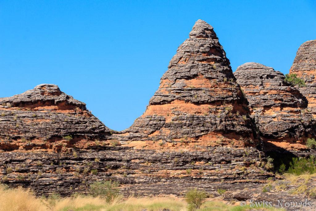 Die typischen Fels Dome des Purnululu Nationalparks