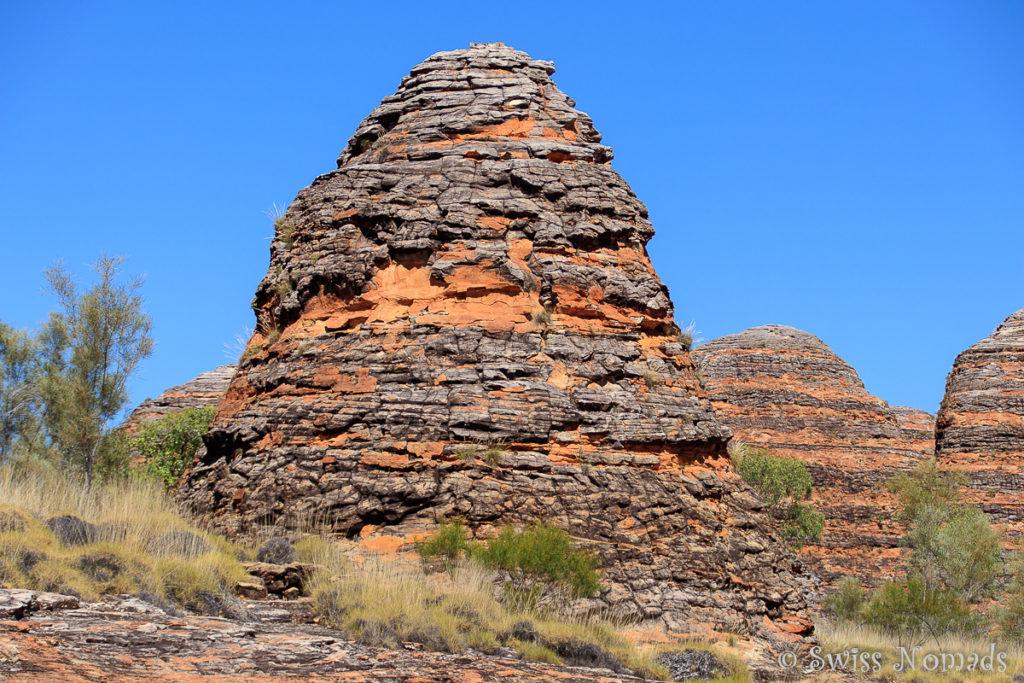 Typische Felsformation im Purnululu Nationalpark