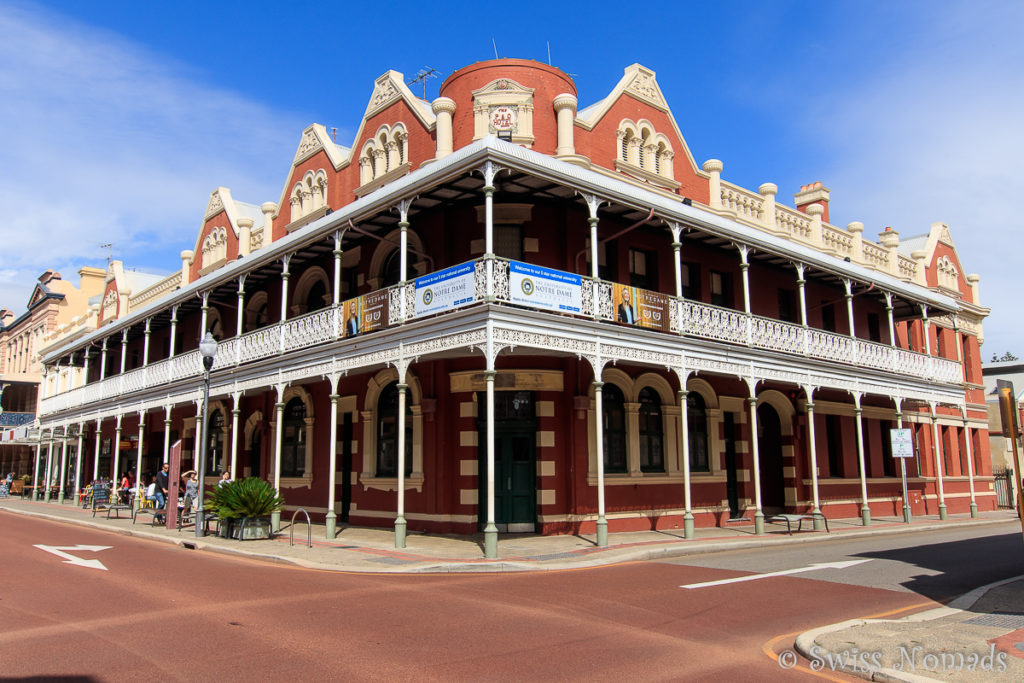 Die schön restaurierten Gebäude in Fremantle, Westaustralien