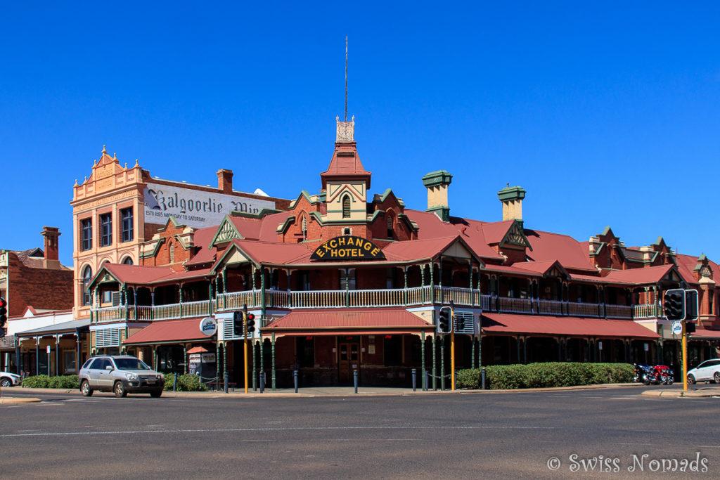 Das historische Exchange Hotel in Kalgoorlei-Boulder