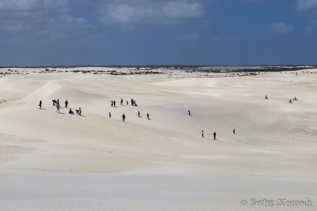 Die riesigen, schneeweissen Sanddünen in Lancelin