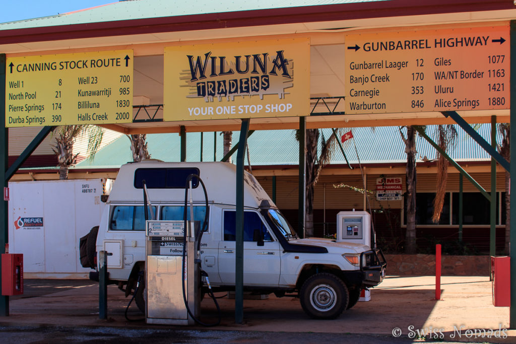 Wiluna Ende der Canning Stock Route