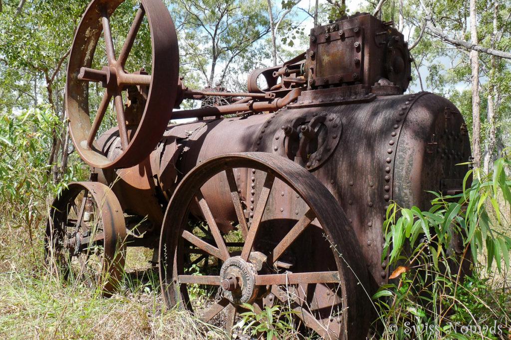 Alte Maschinen bei den Batavia Goldfields auf der Cape York Halbinsel