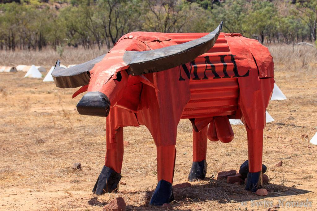 Brief Kasten in Kuhform im Limmen Nationalpark
