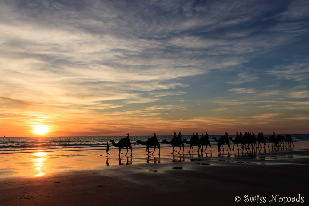 Der Sonnenuntergang am Cable Beach in Broome