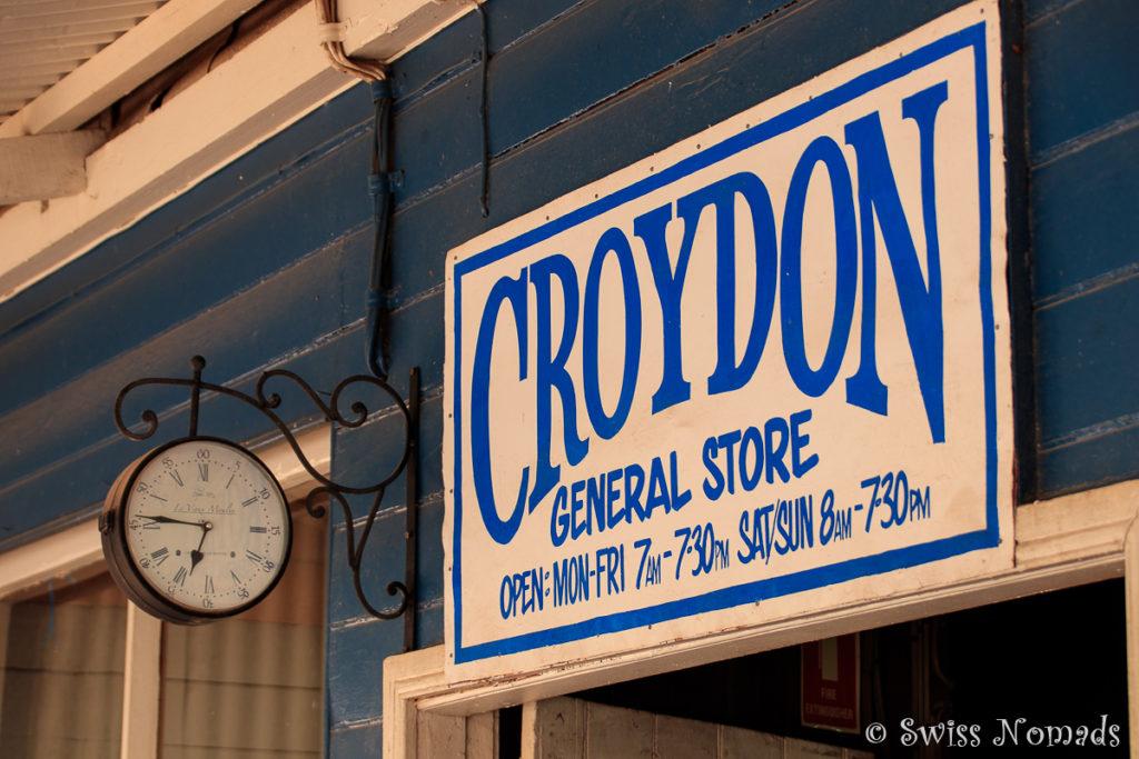Der Croydon Shop entlang des Savannah Way