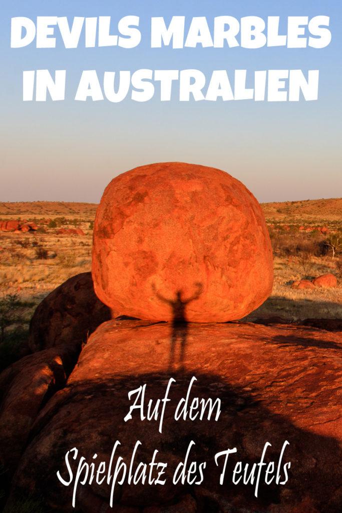 Die Devils Marbles in Australien sind auch als Karlu Karlu bekannt.