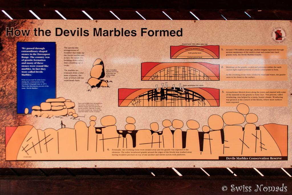 Wie sind die Devils Marbles entstanden?