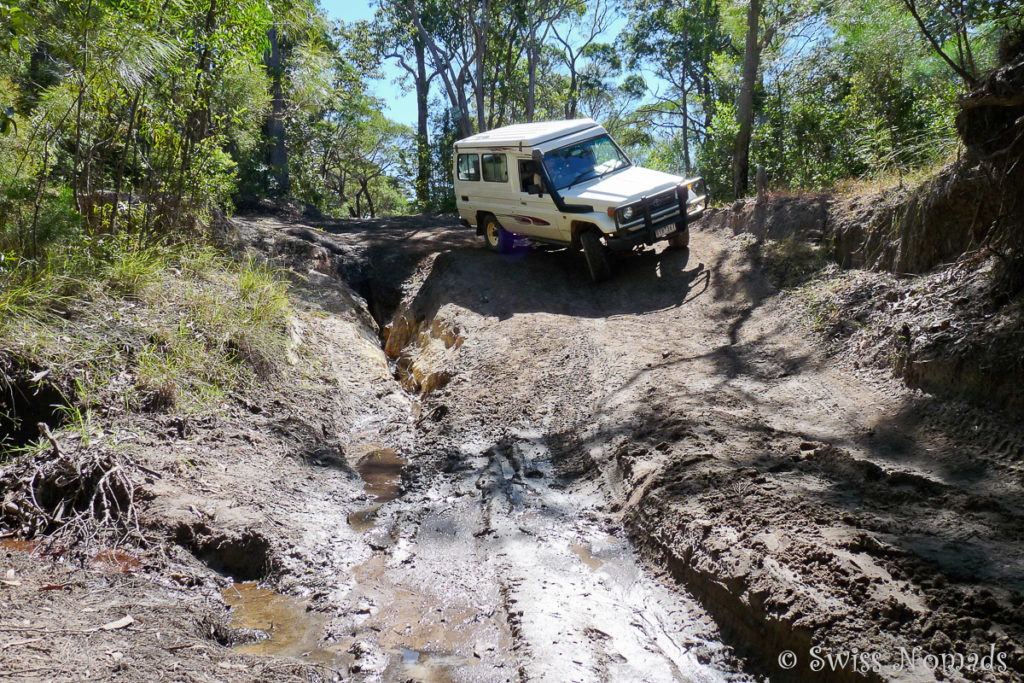 Die Gunshot Creek Crossing entlang des Old Telegraph Tracks am Cape York