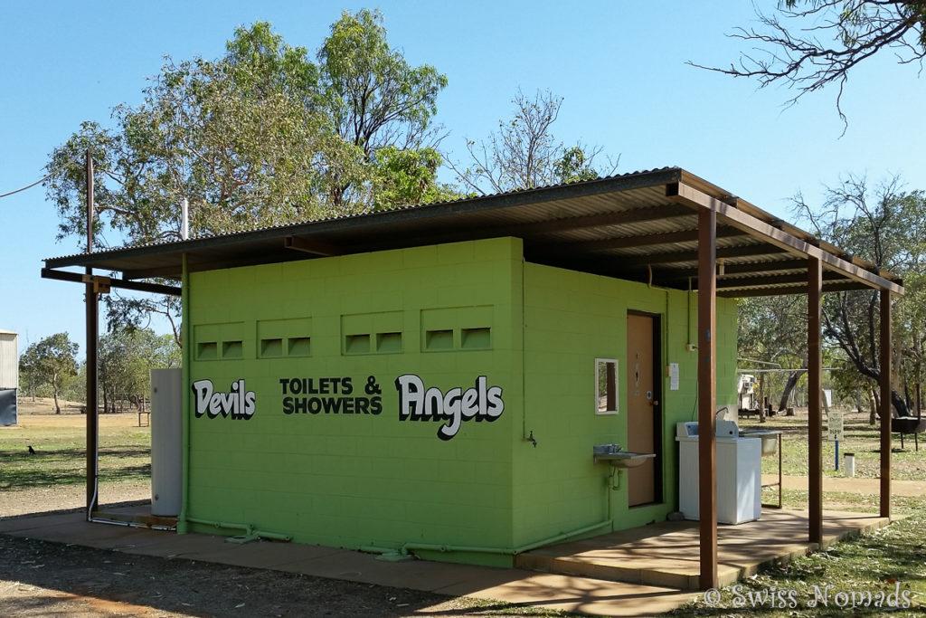 Toiletten für Teufel und Engel im Hells Gate Roadhouse