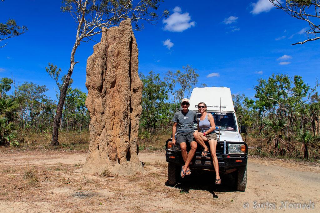 Riesige Termitenhügel im Litchfield Nationalpark