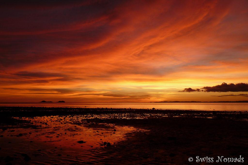 Traumhafter Sonnenuntergang an der Loyalty Beach am Cape York