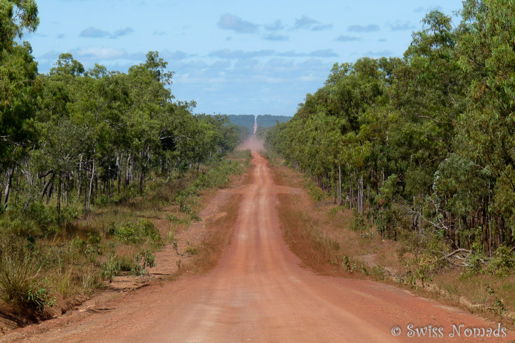 Die Peninsula Developmental Road zum Cape York in Australien