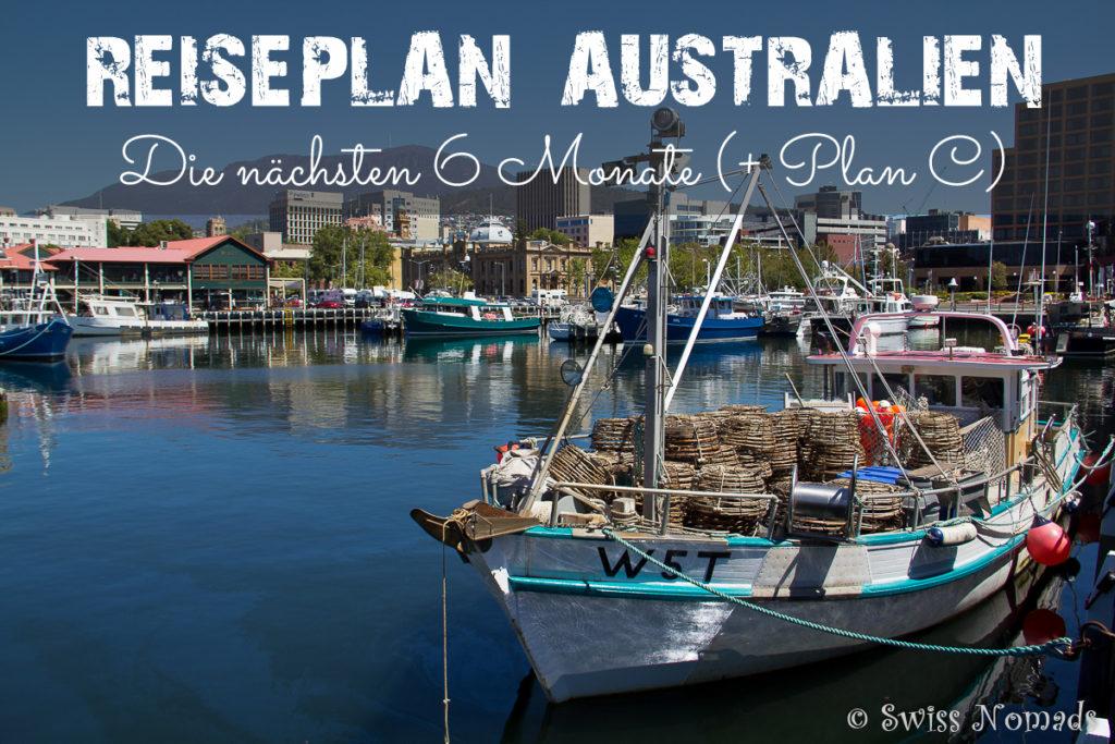 Reiseplan Australien 2017-18