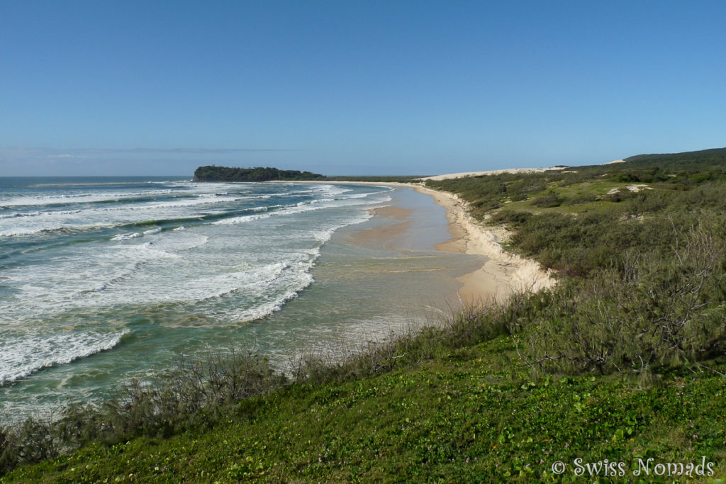 Aussicht vom Champagne Pools Lookout auf Fraser Island