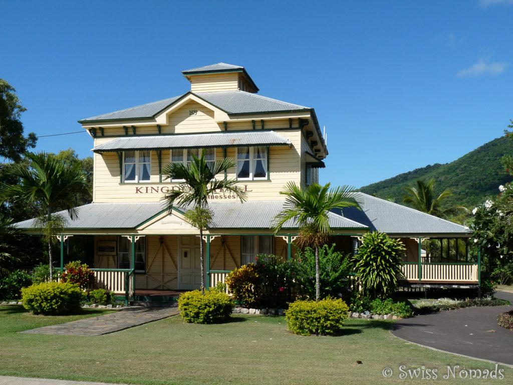 Das schön renovierte Gebäude des alten Spitals in Cooktown