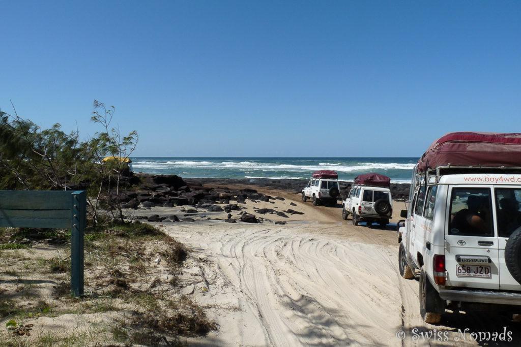 Tourgruppe auf Fraser Island
