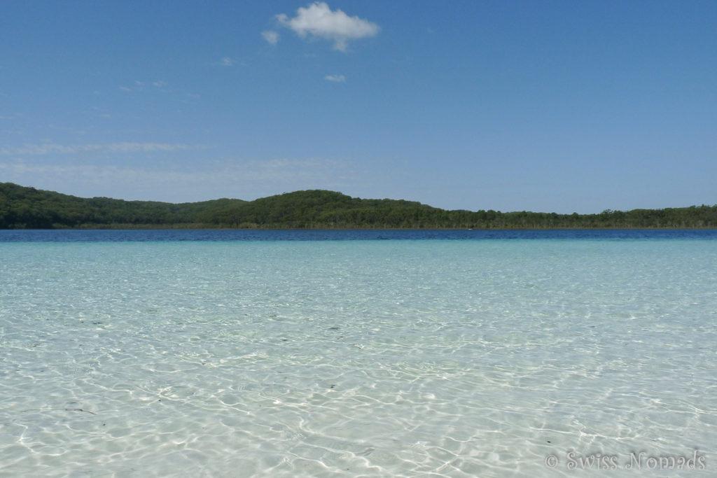 Der wunderschöne Lake Birrabeen auf Fraser Island