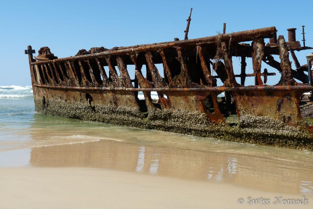Das Maheno Schiffswrack auf Fraser Island