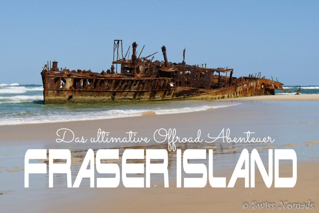 Maheno Schiffswrack auf Fraser Island in Australien