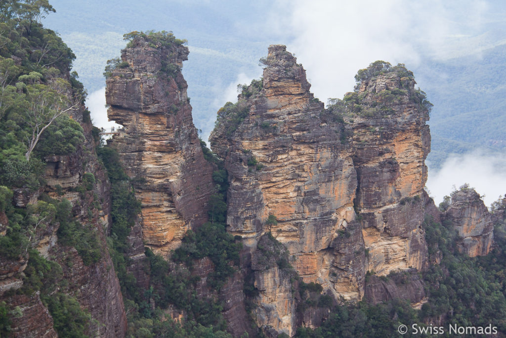 Three Sisters vom Echo Point Lookout im Blue Mountains Nationalpark