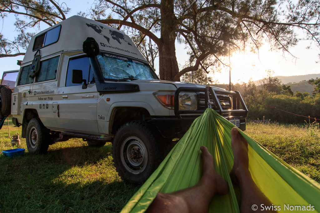 Campen im Bretti Reserve entlang des Thunderbolts Way