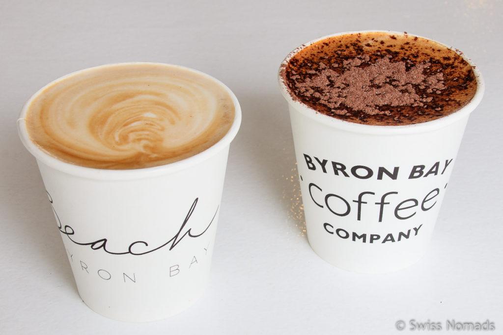 Leckerer Kaffe bei der Byron Bay Coffee Company