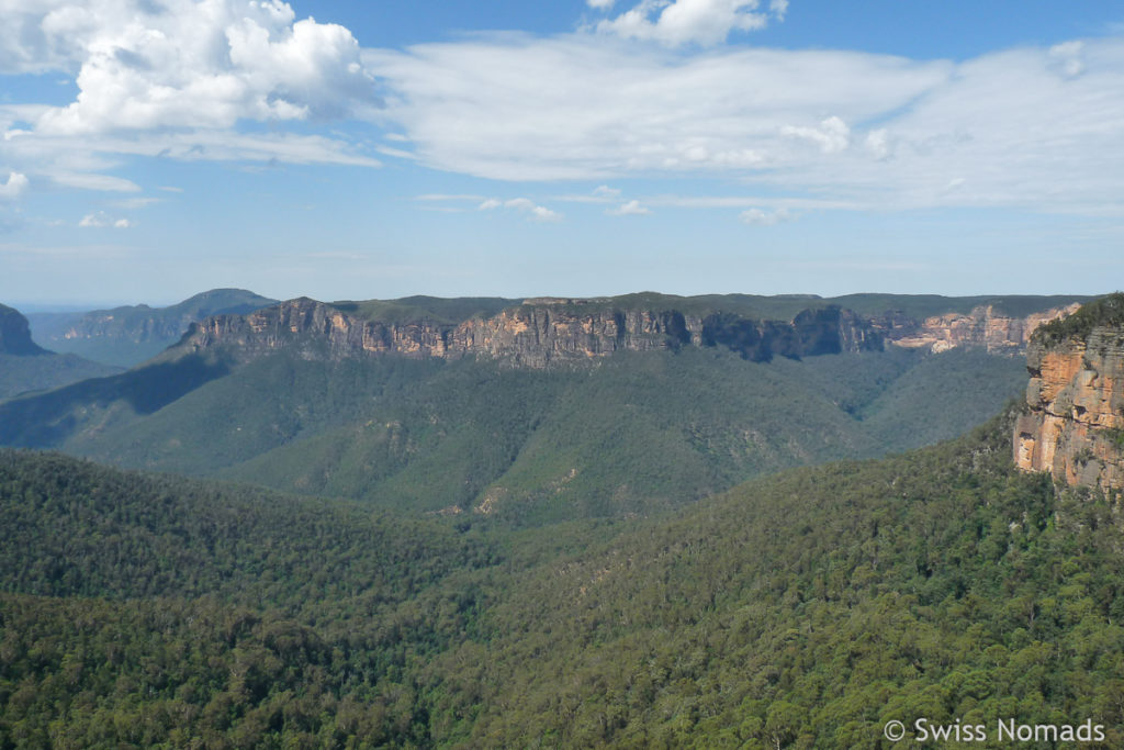 Aussicht von Govetts Leap im Blue Mountains Nationalpark
