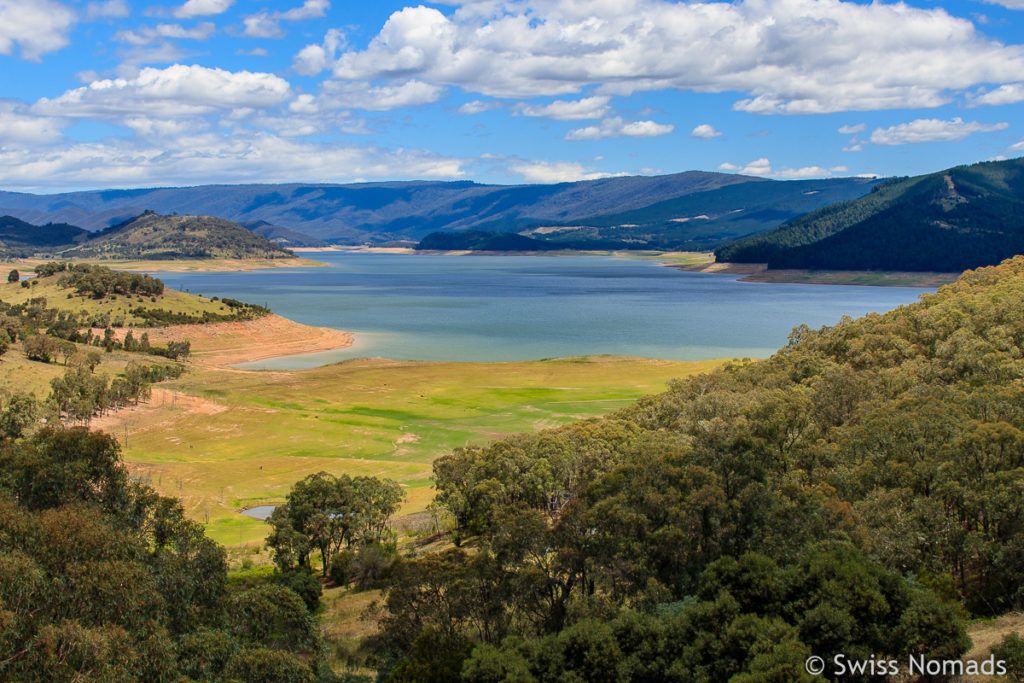 Lake Jindabyne entlang des Roadtrips von Sydney nach Melbourne