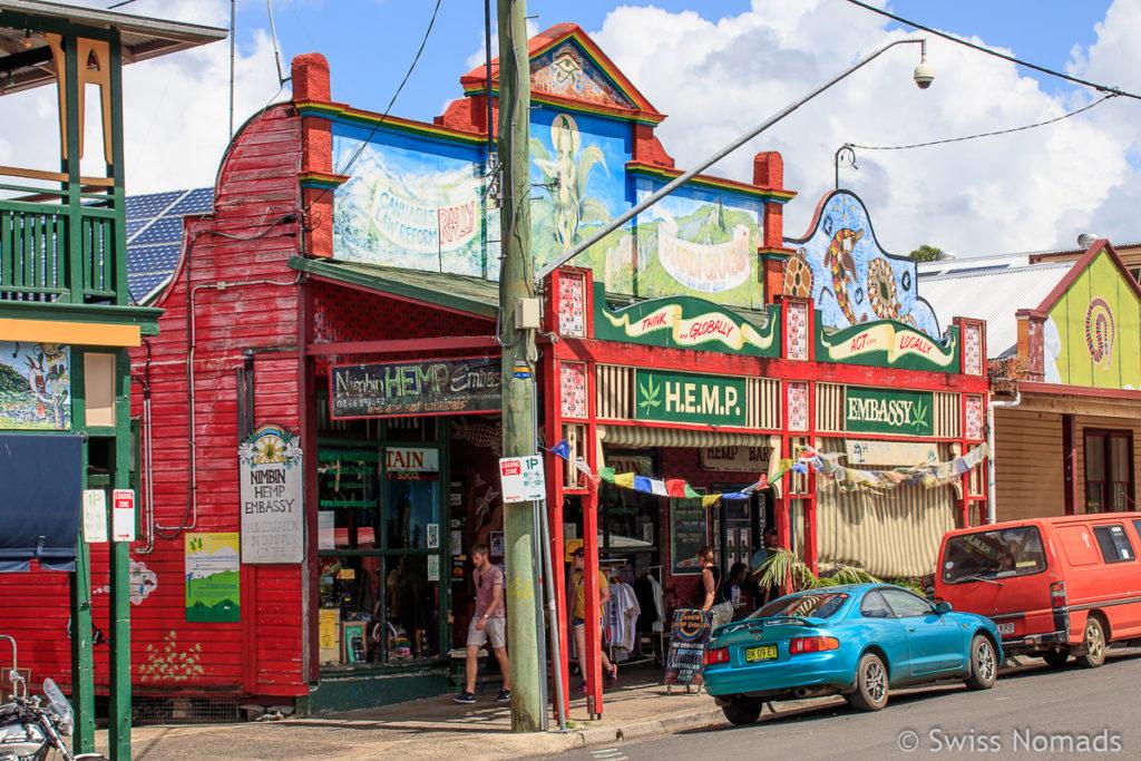 Hanf Shop im Hippie Ort Nimbin