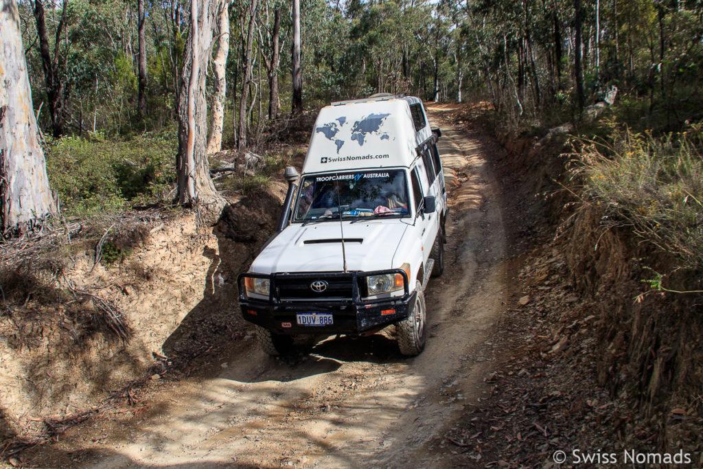 Offroad Strecke durch die Snowy Mountains ausserhalb von Canberra