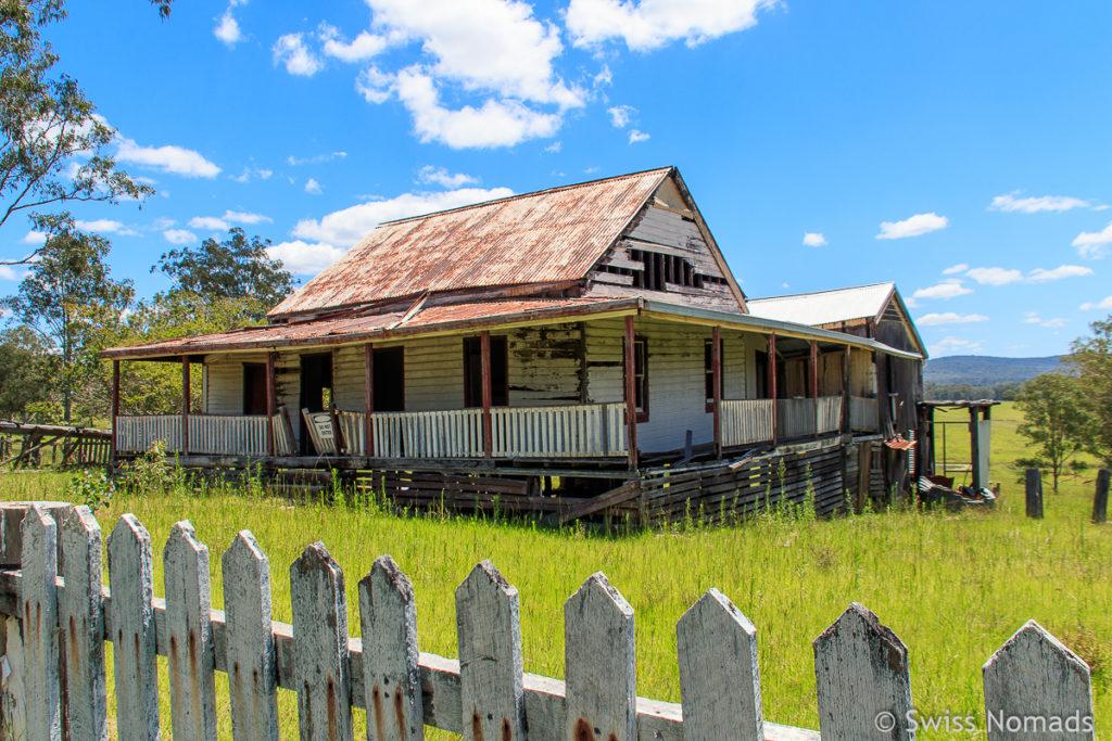 Verlassene Farm an der Old Glen Innes Road