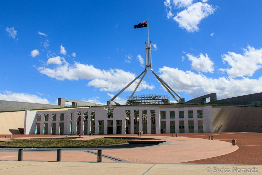 Das Regierungsgebäude von Australien in Canberra