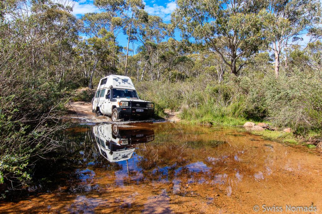 Flussdurchfahrt auf dem Roadtrip von Sydney nach Melbourne