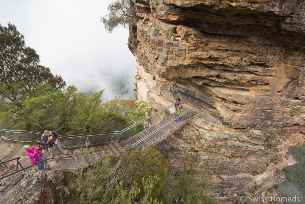 Die Felsnadel der Three Sisters im Blue Mountains Nationalpark